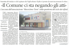 16-10-2014 quotidiano MuoviAmo Tursi accesso atti