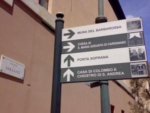 segnaletica turismo tursi